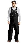 Carhartt | Duck Quilt-Lined Zip-To-Thigh Bib Overalls - CART