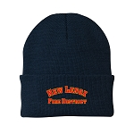 12 Inch Solid Knit Cap - RED/GOLD
